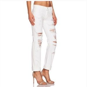 NWT Blank NYC The Galaxy White Distressed Jeans 28